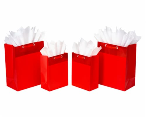 American Greetings Red Gift Bags & Tissue Paper Bundle Perspective: front