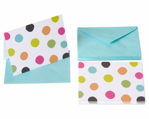 American Greetings #16 Multi Dot Blank Cards and Envelopes Perspective: front
