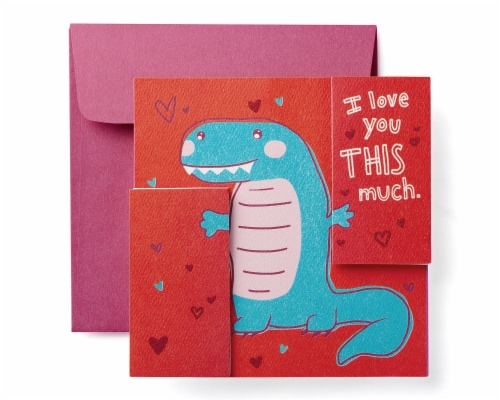 American Greetings Valentine's Day Card (Dinosaur) Perspective: front