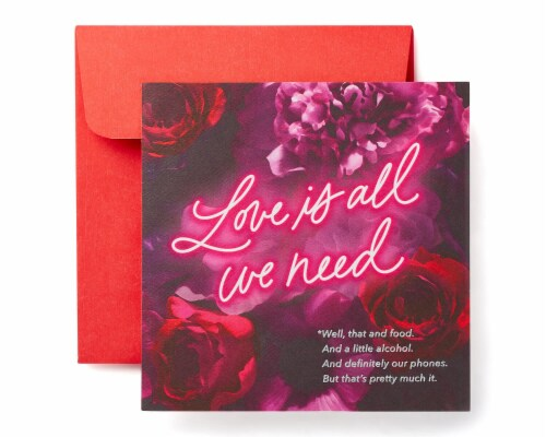American Greetings Valentine's Day Card (Love and Food) Perspective: front