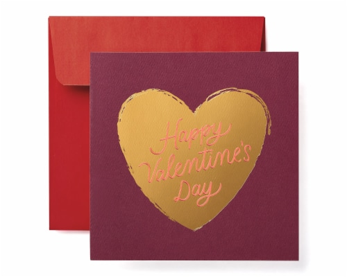 American Greetings Valentine's Day Card (Heart) Perspective: front