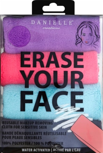 Danielle Erase Your Face Makeup Removing Cloth 4 Pack - Assorted Perspective: front