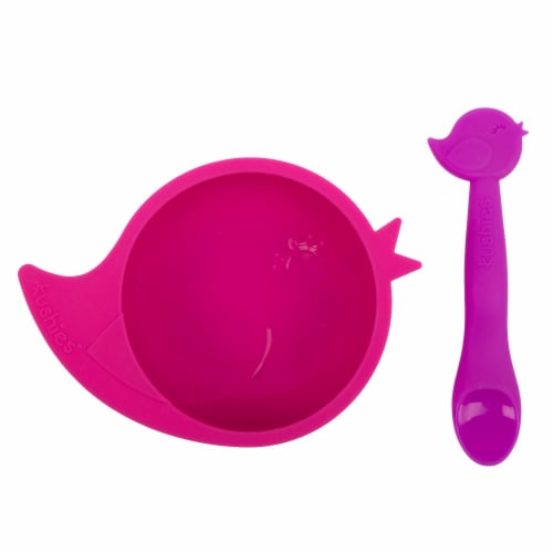 Silibowl Silicone Bowl & Spoon Set Perspective: front
