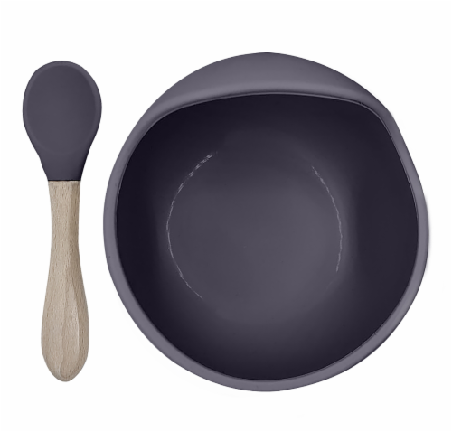 Siliscoop Bowl & Spoon Sparrow Perspective: front
