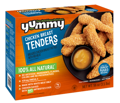 Yummy All Natural Chicken Breast Tenders Perspective: front