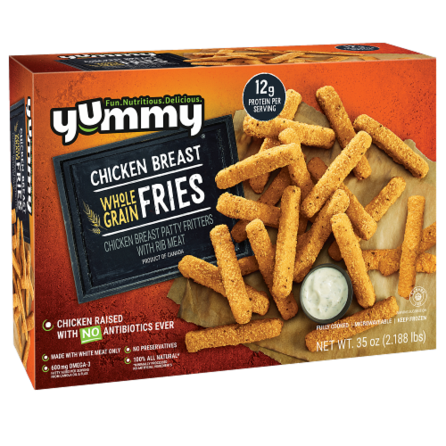 Yummy Whole Grain Chicken Breast Fries Perspective: front