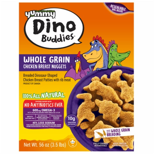 Yummy Dino Buddies Whole Grain Chicken Breast Nuggets Perspective: front