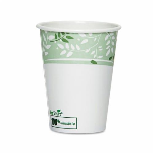 Dixie 2338PLA EcoSmart Hot Cups- PLA Lined Paper- Viridian- 8 oz.- 1000/Carton Perspective: front