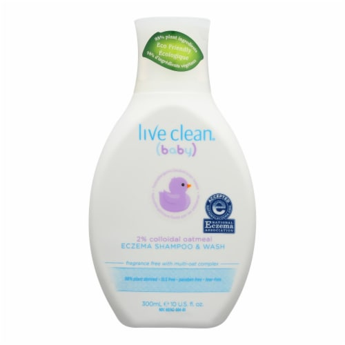 Live Clean® Baby Eczema Shampoo & Wash Perspective: front