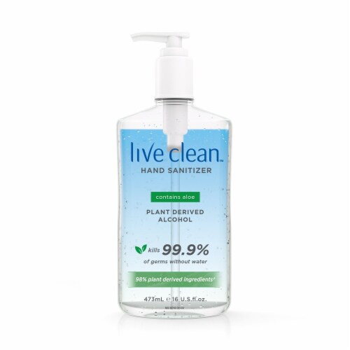 Live Clean Hand Sanitizer Perspective: front