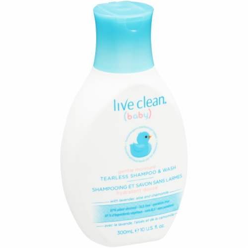Live Clean Baby Gentle Moisture Tearless Shampoo & Wash Perspective: front