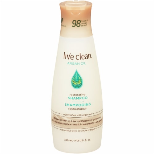 Live Clean Exotic Nectar Argan Oil Restorative Shampoo Perspective: front