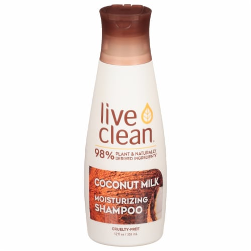 Live Clean Coconut Milk Moisturizing Shampoo Perspective: front