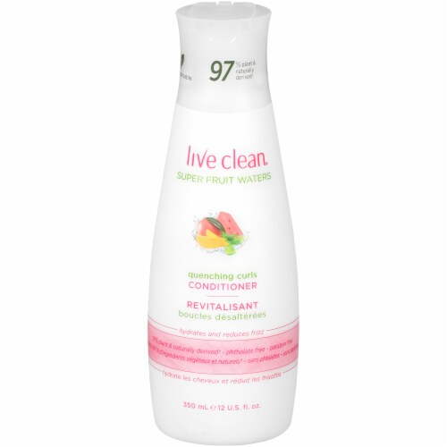 Live Clean Super Fruit Waters Quenching Curls Conditioner Perspective: front