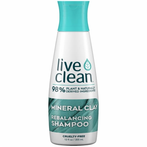 Live Clean Mineral Clay Rebalancing Shampoo Perspective: front