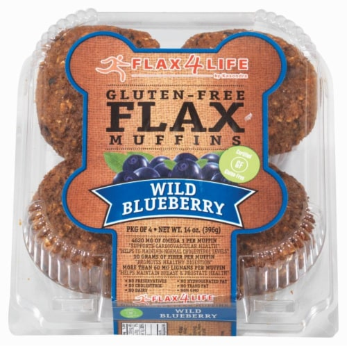 Flax 4 Life Wild Blueberry Muffins - Gluten Free Perspective: front