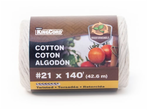 KingCord Cotton Twisted Twine - Natural Perspective: front