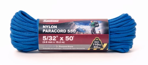 Mibro Kingcord Paracord 550 Nylon Diamond Braid - Blue Perspective: front