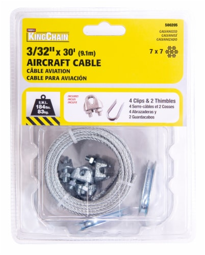Mibro Kingchain Aircraft Cable Galvanized Perspective: front