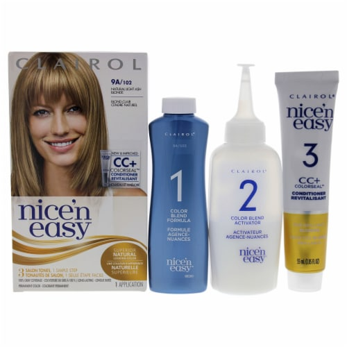 Clairol Nice n Easy Permanent Color  102 Natural Light Ash Blonde Hair Color 12 oz Perspective: front