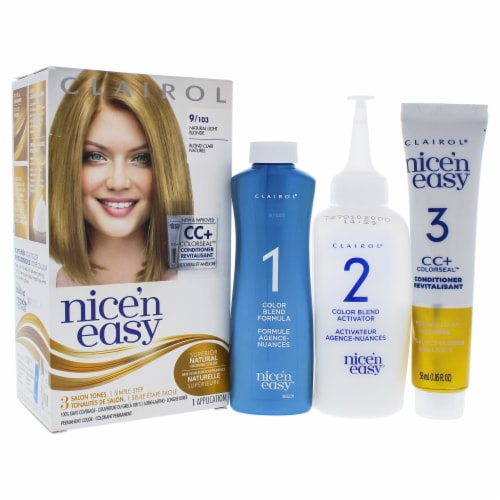 Clairol Nice n Easy Permanent Color  9 103 Natural Light Blonde Hair Color 1 Application Perspective: front