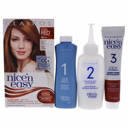 Clairol Nice n Easy Permanent Color  6R 110 Natural Light Auburn Hair Color 1 Application Perspective: front