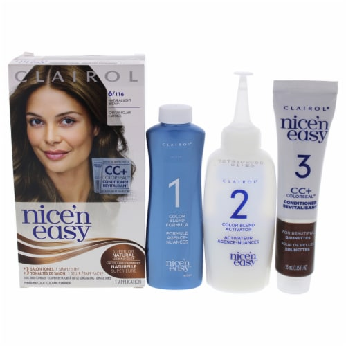 Clairol Nice n Easy Permanent Color  6 116 Natural Light Brown Hair Color 1 Application Perspective: front