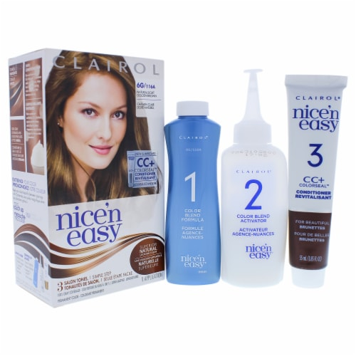 Clairol Nice n Easy Permanent Color  6G 116A Natural Light Golden Brown Hair Color 1 Applicat Perspective: front
