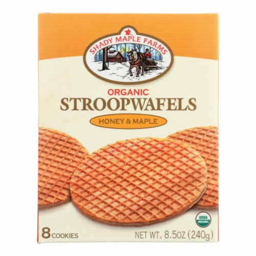 Shady Maple Farms Honey & Maple Stroopwafels Perspective: front