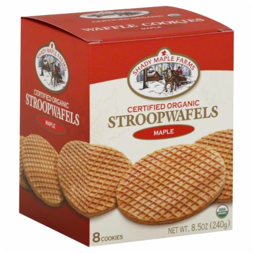 Shady Maple Farms Maple Stroopwafels Perspective: front