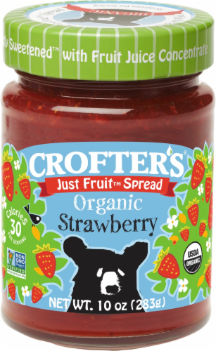 Crofter's Organic Just Fruit Strawberry Perspective: front