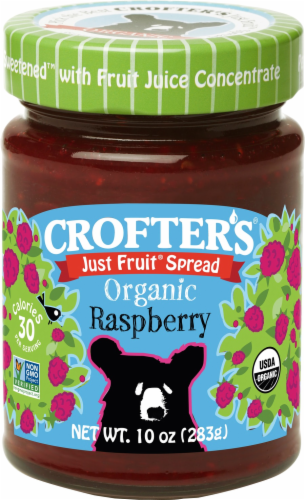 Crofter's Organic Just Fruit Raspberry Spread Perspective: front