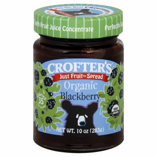 Crofter's Organic Blackberry Just Fruit Spread Perspective: front