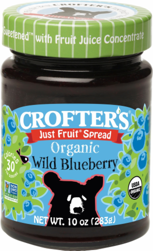 Crofter's Organic Just Fruit Wild Blueberry Sprread Perspective: front