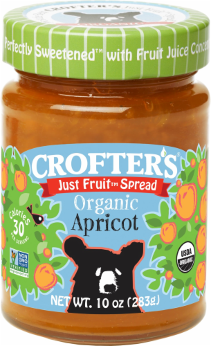 Crofter's Organic Just Fruit Apricot Spread Perspective: front
