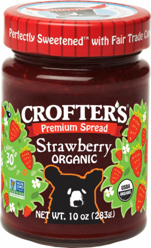 Crofter's Organic Strawberry Premium Spread Perspective: front