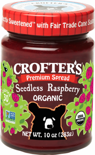 Crofter's Organic Premium Seedless Raspberry Spread Perspective: front