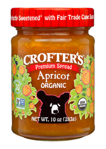 Crofter's Organic Apricot Premium Fruit Spread Perspective: front
