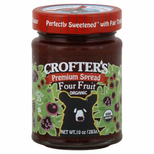 Crofter's Organic Four Fruit Fruit Spread Perspective: front