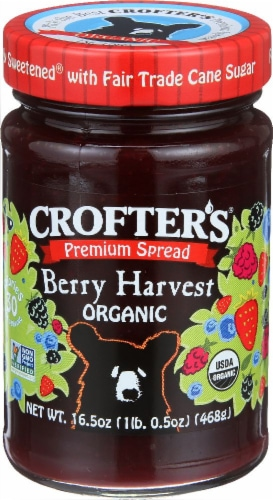 Crofter's Organic Berry Harvest Spread Perspective: front
