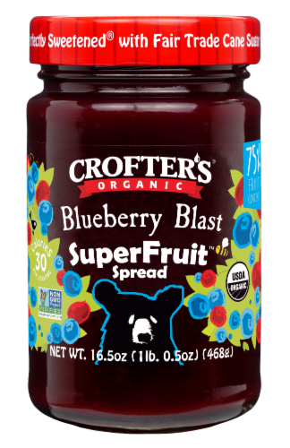 Crofter's Organic Blueberry Blast SuperFruit Spread Perspective: front