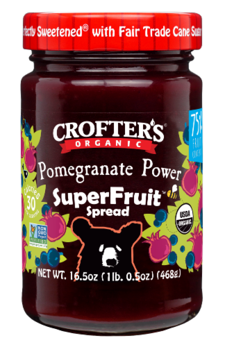 Crofter's Organic Pomegranate Power Premium SuperFruit Spread Perspective: front