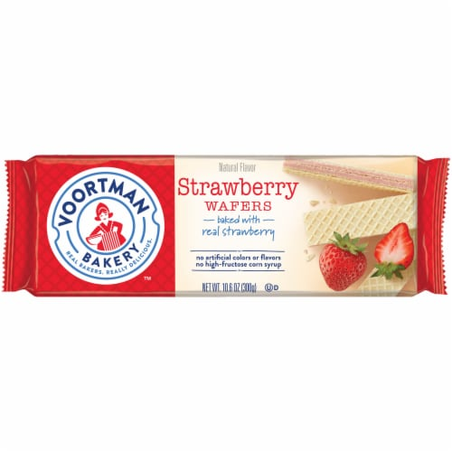 Voortman Bakery Strawberry Wafers Perspective: front