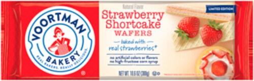 Voortman Bakery Strawberries & Creme Wafers Perspective: front