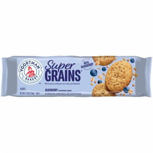Voortman Super Grains Blueberry Cookies Perspective: front
