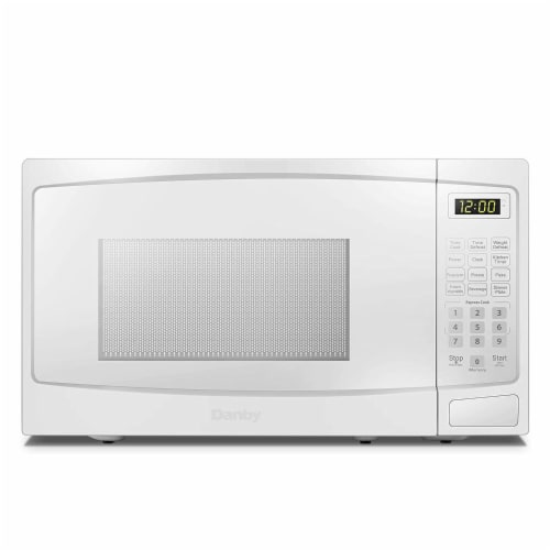 Danby 700W 0.7 Cubic Feet Convenient User-Friendly Countertop Microwave, White Perspective: front