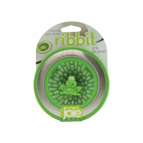 Joie Ribbit Sink Strainer - Frog Green Perspective: front