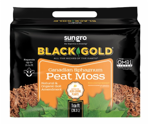 SunGro Black & Gold Canadian Sphagnum Peat Moss Perspective: front