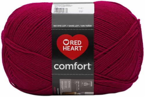 Red Heart® Comfort Yarn - Cardinal Red Perspective: front