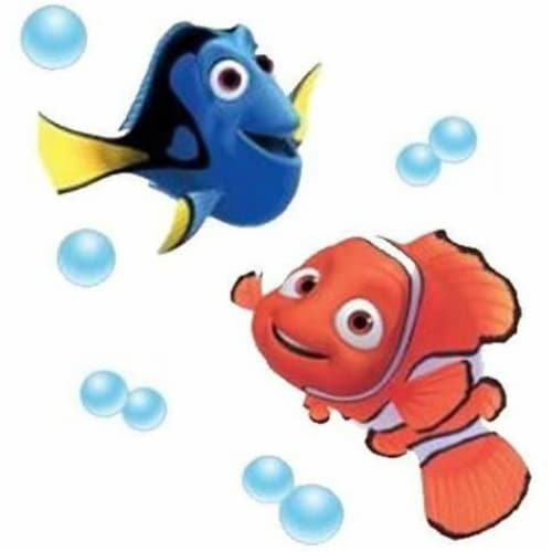 Disney Pixar Finding Nemo Removable Decorative Wall Stickers - Set of 2 Perspective: front